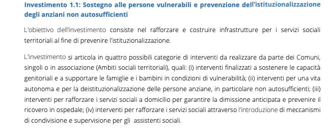 Prevenzione istituzionalizzazione