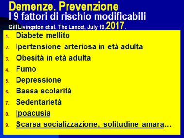 DEmenze prevenzione